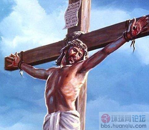 耶稣背十字架简笔画