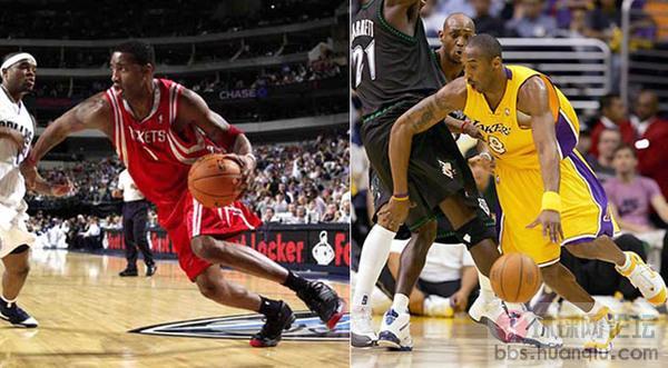 NBA超级球星姿势对比图图片