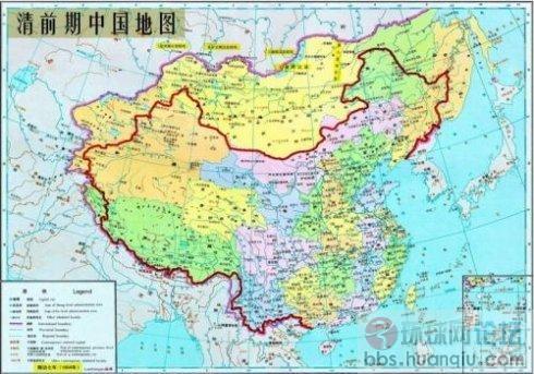 """清朝前期""""海棠花""""地图,从唐朝"""
