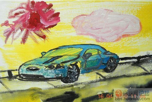 大家看看·5岁半何培宁小朋友画的汽车·是不是天才小
