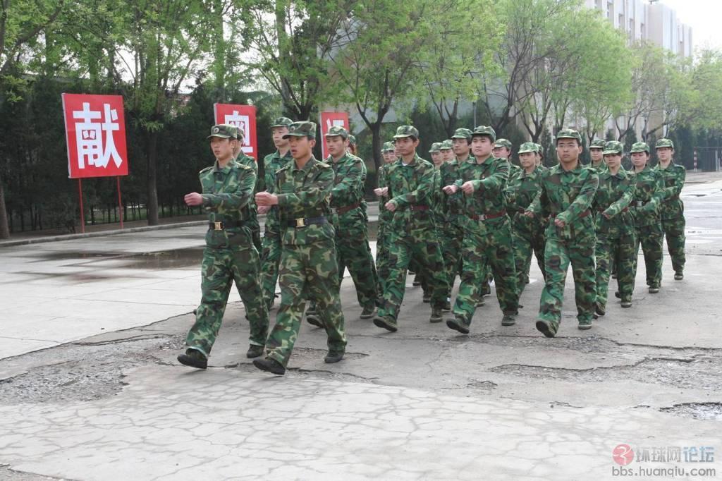 令中国震惊的日本大学生军训