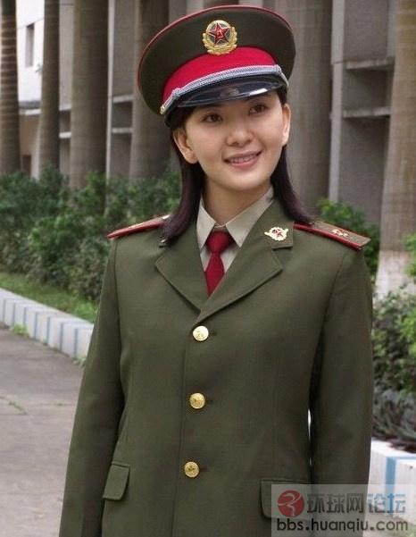 超美的中国女军人图片