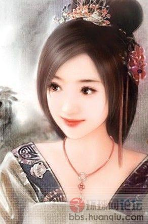 手绘古代美女迷人画像-历史茶坊-环球网社区