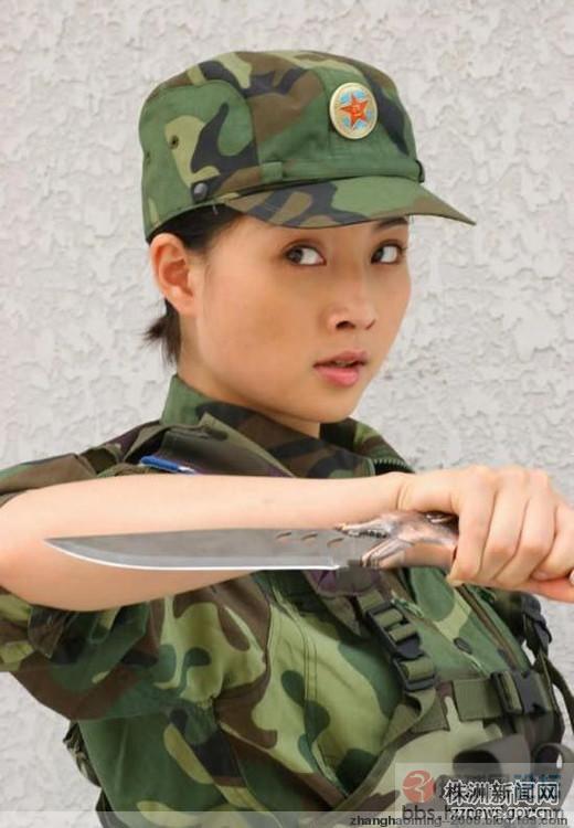 超美的中国女军人! 天下美女