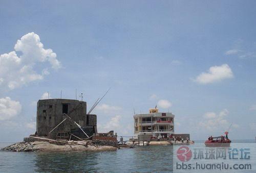 占领中国南沙诸岛礁的越南军队