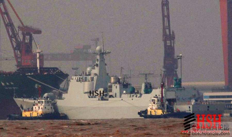 中国海军第三艘中华神盾舰试航了