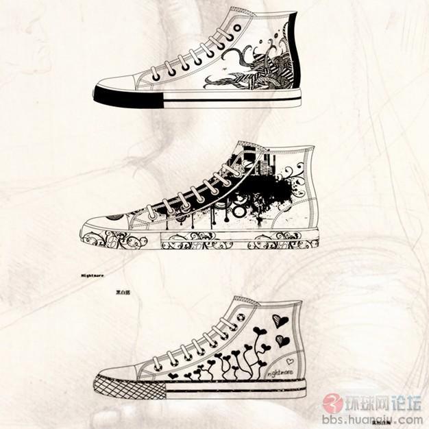 布鞋也疯狂,素描和涂鸦都看上了它图片