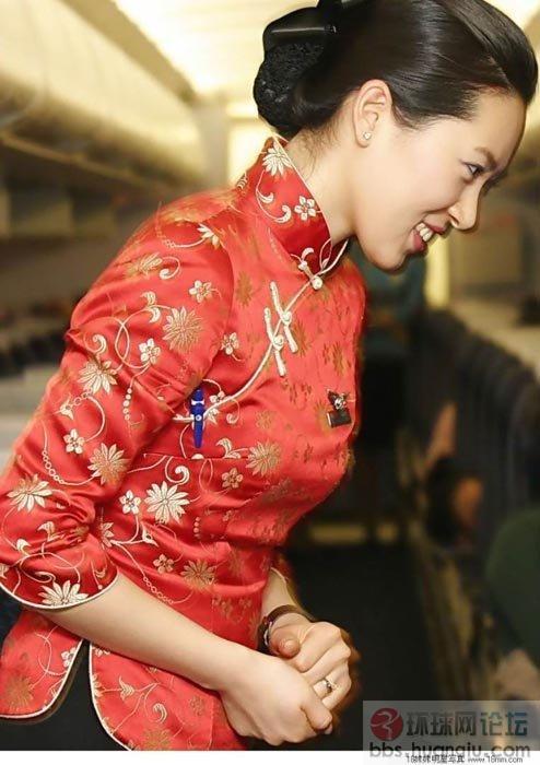 中国美丽空姐大媲美