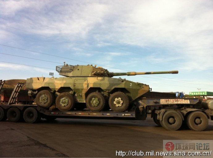 解放军防新型8X8轮式105毫米自行突击炮
