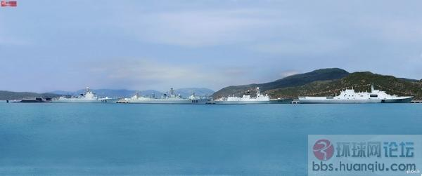 检阅中国海军新锐战舰!