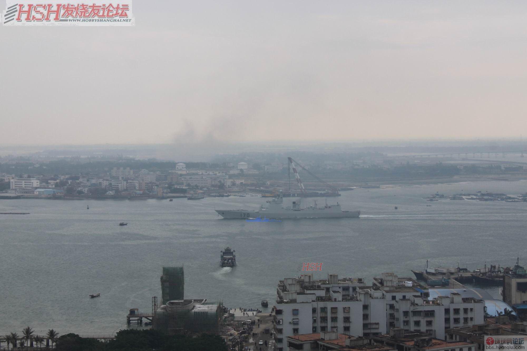 偶遇中华神盾170舰进港!