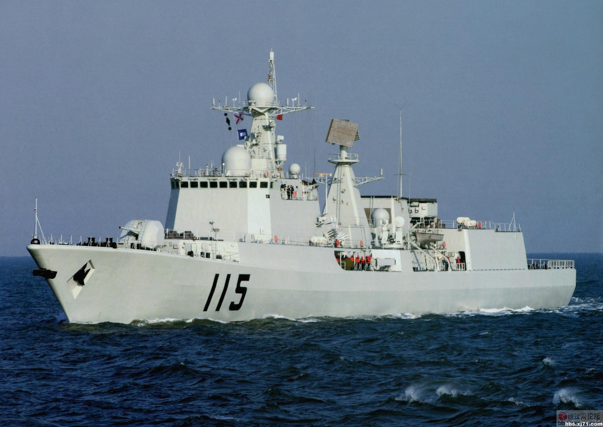 中国海军115号驱逐舰战备巡航