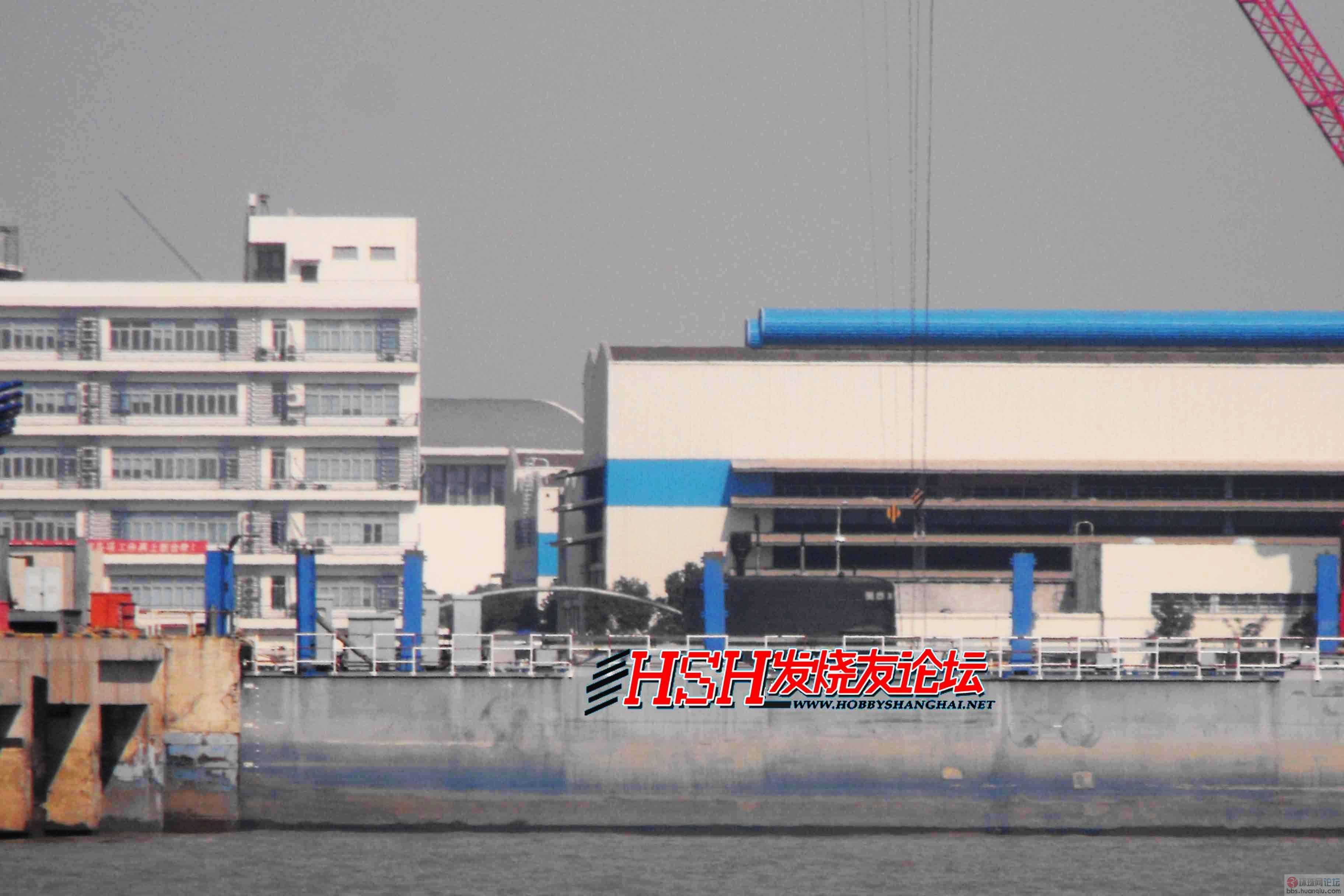 长兴岛新中华神盾舰的进展 还有黑鱼哦