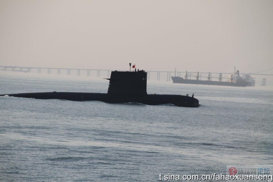 遭遇解放军潜艇 无害通过