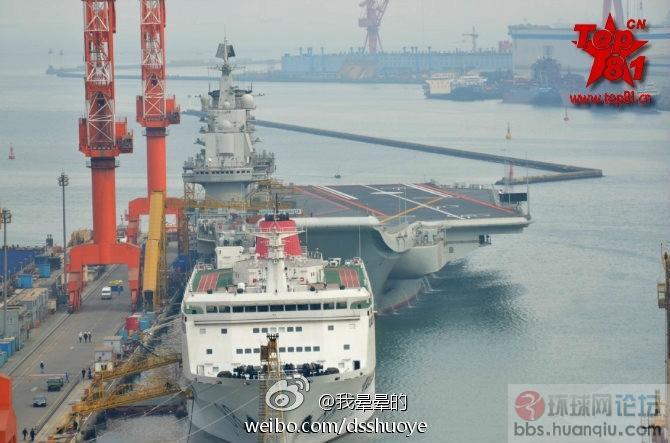 中国海军航空母舰正面图:这就是传说中的霸气外露!