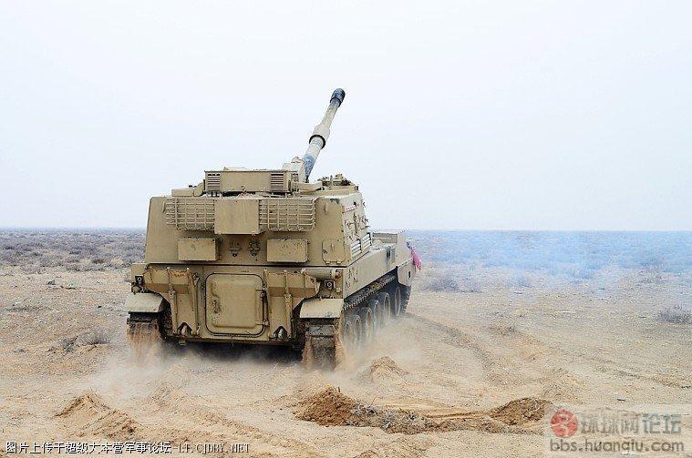 中国出口的PLZ-45自行火炮测试中