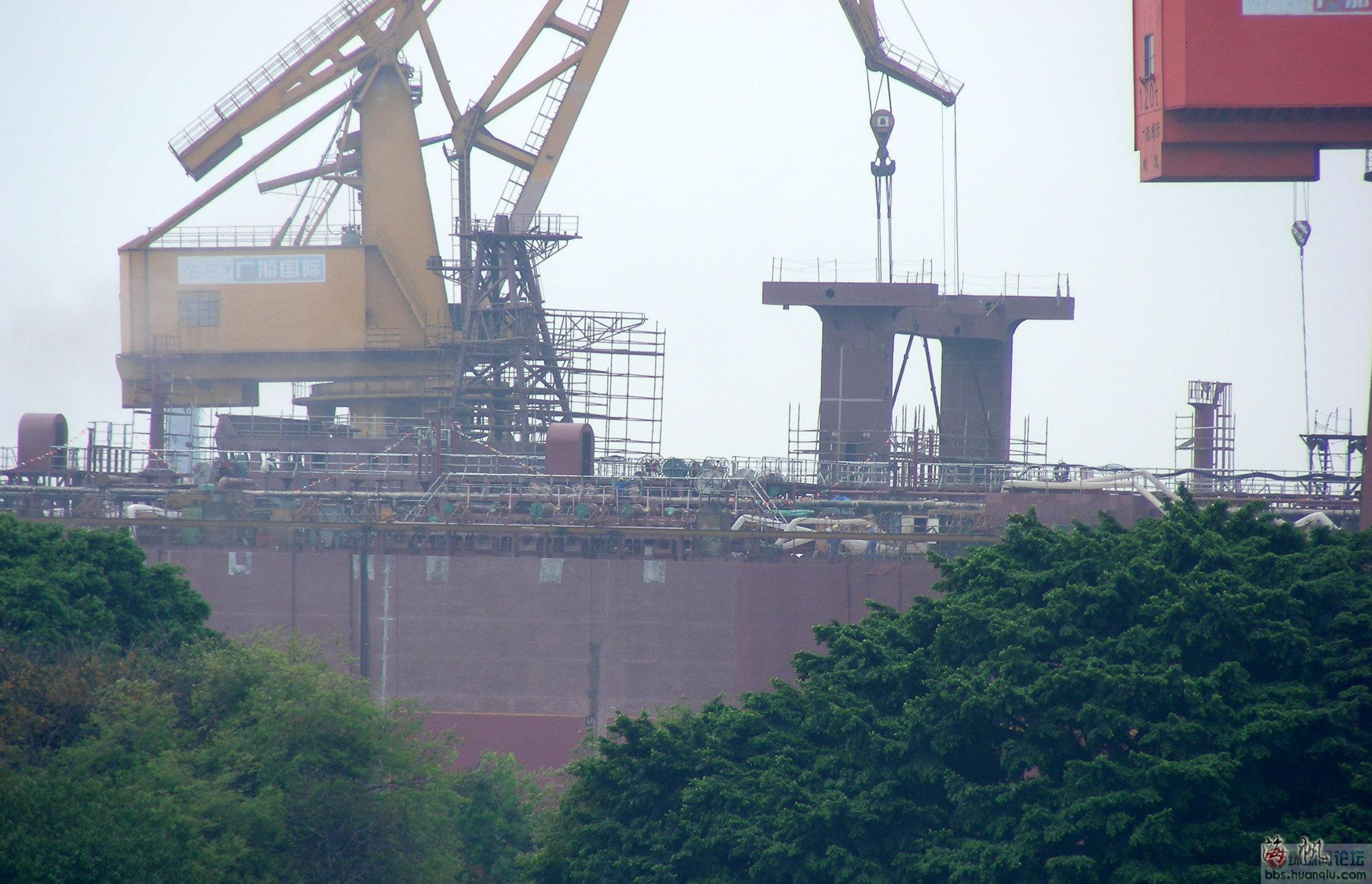 补给货架高大威猛:中国海军在建的新大大补又新变化了