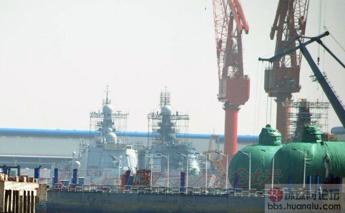 长兴岛在建的中华神盾舰最新状态