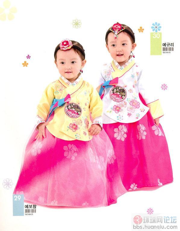 服饰 韩服是韩国,朝鲜,以及中国朝鲜族的传统服装