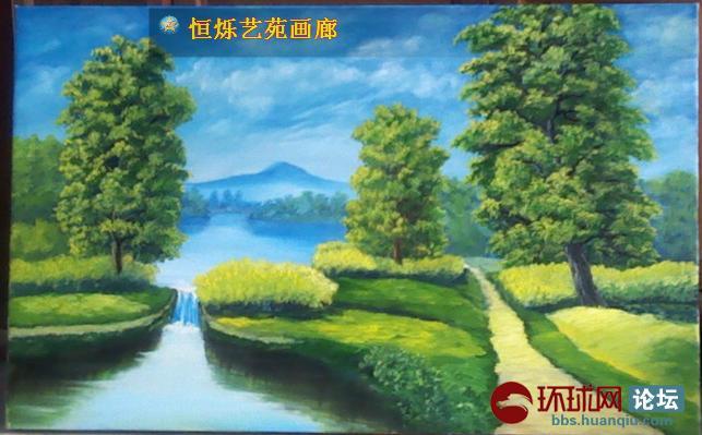 恒爍藝苑畫廊油畫風景系列 美麗的襄陽風光無限