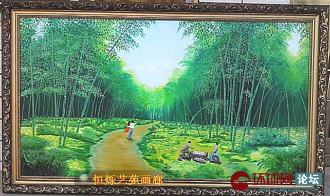 恒烁艺苑画廊之油画风景图片.农民叶雷的作品.