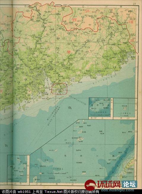 地图述说中国南海