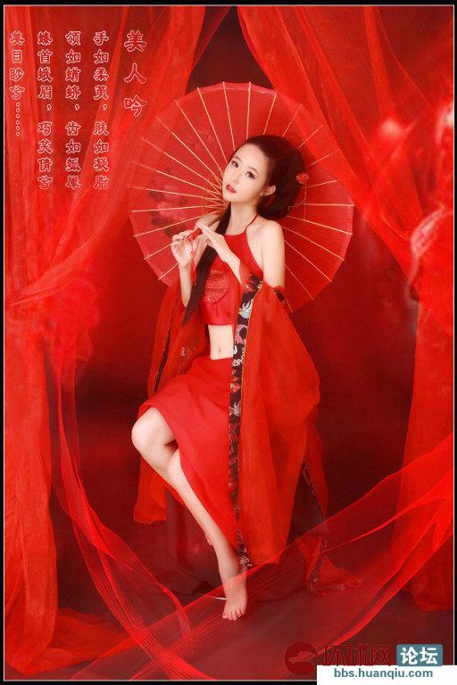 【红衣古代美女】古代红衣美女手绘图