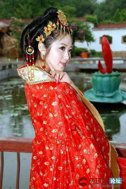 名花倾城的古装女子  艳丽的琼瑶剧中的美人儿
