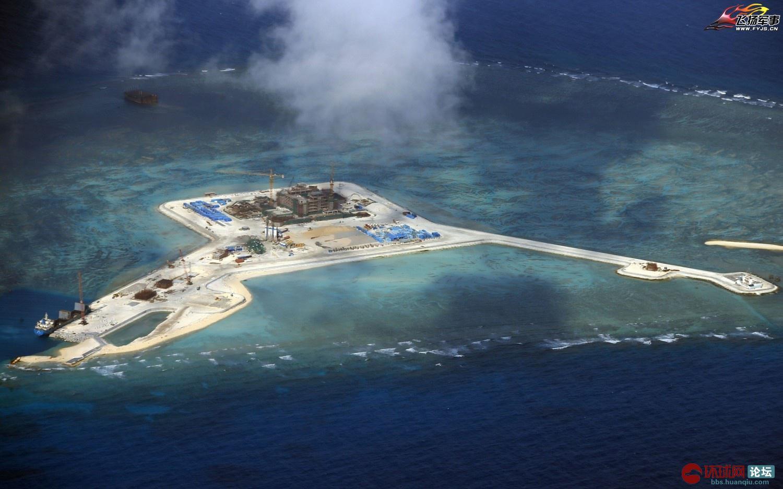 菲律宾发布中国南沙各岛工程清晰航拍照