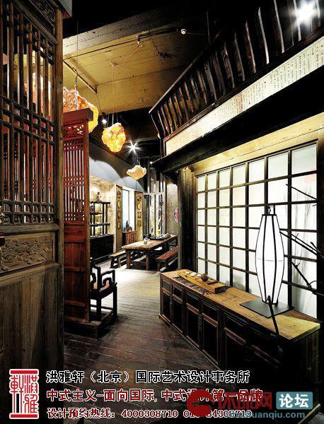 古典中式茶楼-玄关装修效果图-典型的茶楼中式装修设计,宁静惬意与高清图片