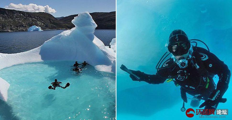夏天太热?想试试到冰川下潜水的感觉不