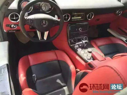 13奔驰海鸥 sls 63-amg最顶级跑车,基本全新车一台.白色红高清图片