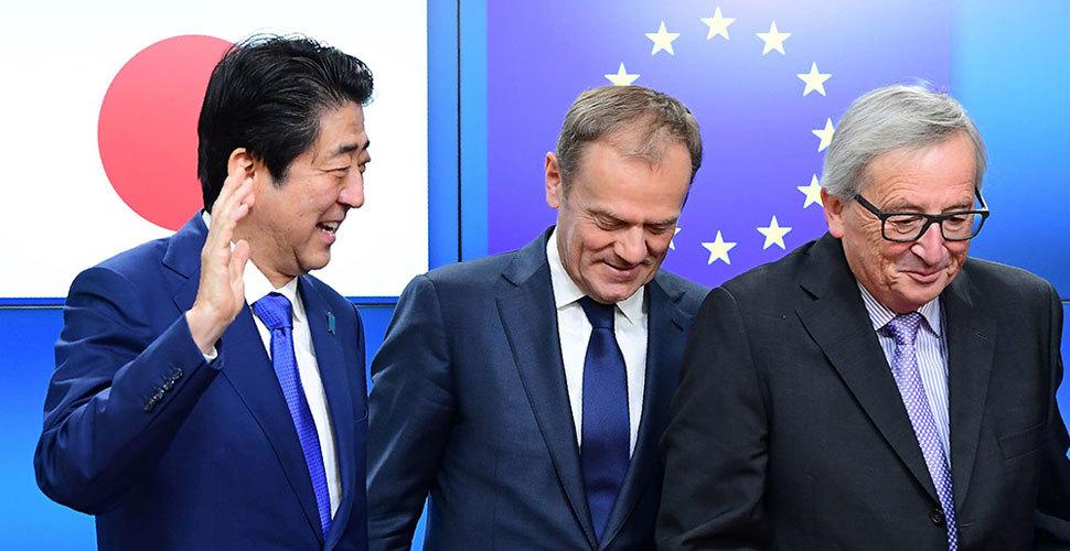 欧盟表示将推动今年内与日本达成自贸协定