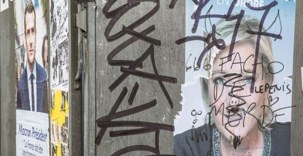 """大选投票后的巴黎 街头布满暴力抗议""""伤痕"""""""