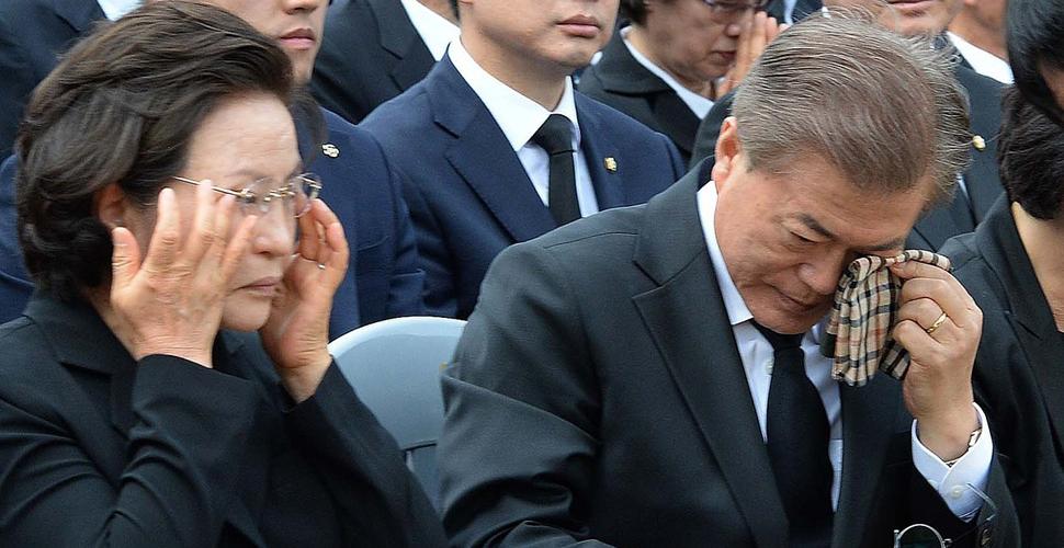 韩前总统卢武铉逝世8周年 文在寅祭奠