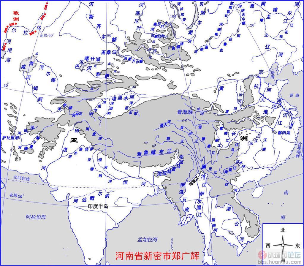 也是流向中南半岛的澜沧江(进入中南