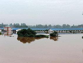 川渝遭暴雨袭击 重庆潼南部分乡镇变泽国