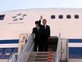 中国总理温家宝抵达美国纽约