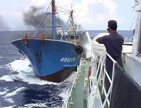 网上出现疑似中日撞船事件录像片段