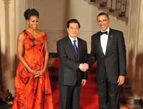 奥巴马在白宫摆国宴欢迎胡锦涛
