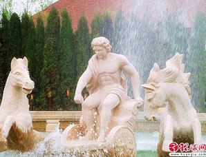 欧陆风情 喷泉雕塑
