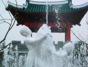 喷泉 雕塑
