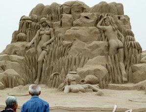 沙雕艺术为西安世园会添彩
