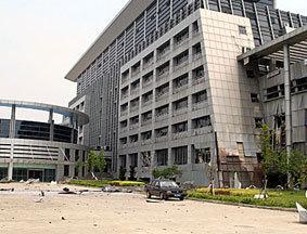 江西抚州市临川区行政中心爆炸现场