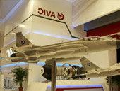 枭龙战机模型亮相巴黎航展
