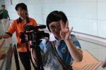 环球网记者在工作中