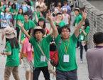 韩国团员爬长城