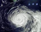 """台风""""梅花""""卫星云图"""