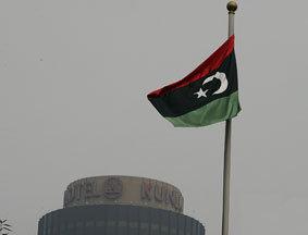 利驻华使馆升起反对派国旗