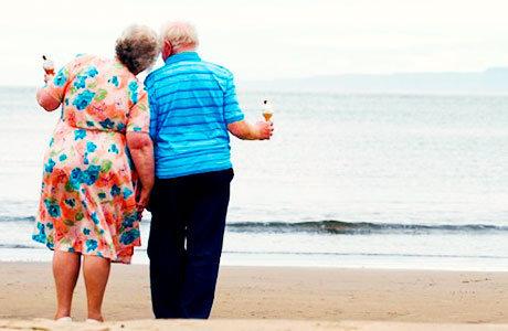 摄影师收集的老夫妻幸福照片